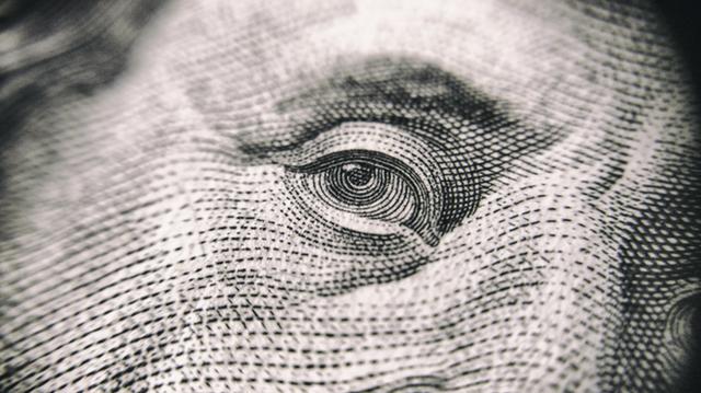 100 dollar bill close up benjamin franklin eye
