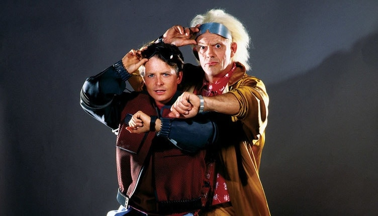 back to the future marty mcfly and doc brown