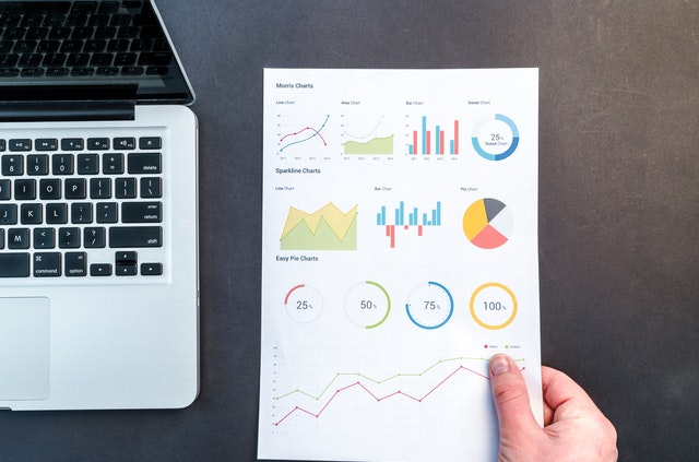 financial reports charts printout document