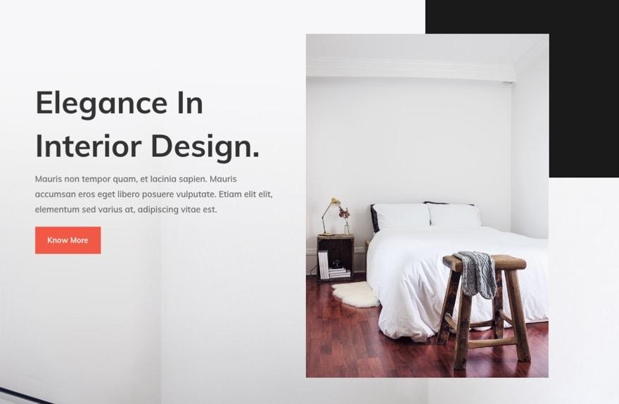 broken grid asymmetrical website design layout