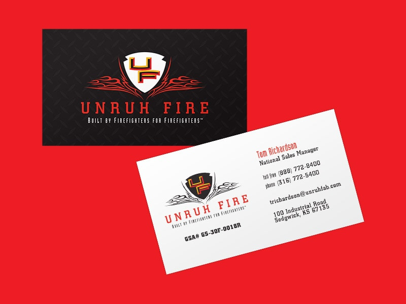 Unruh Fire Business Cards