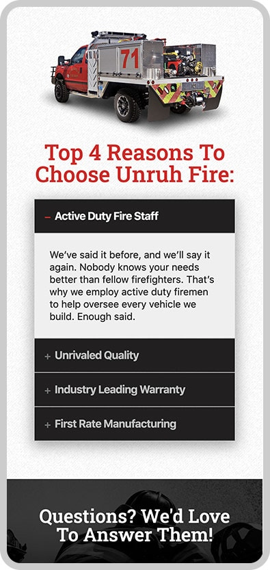 Unruh Fire Mobile Image 2