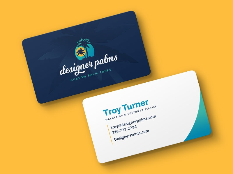 Designer Palms Business Cards