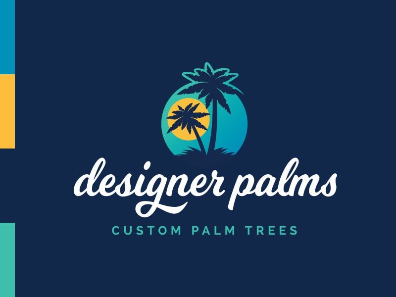 Designer Palms Logo Brand Colors