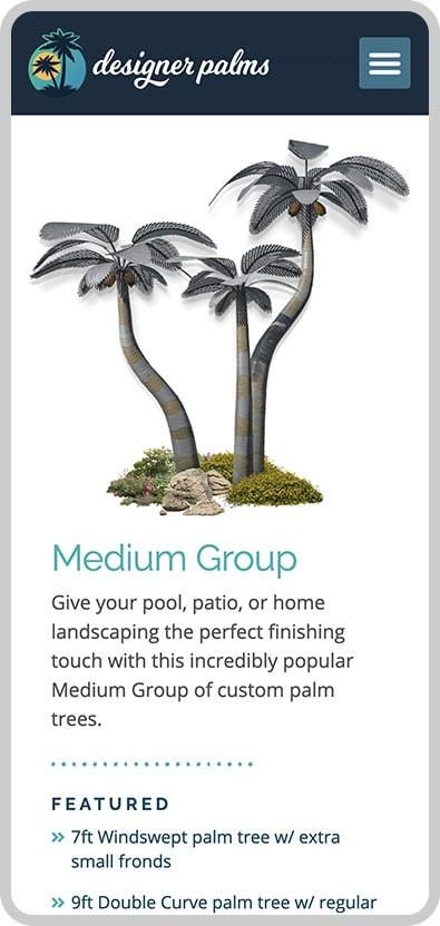 Designer Palms Mobile Image 2