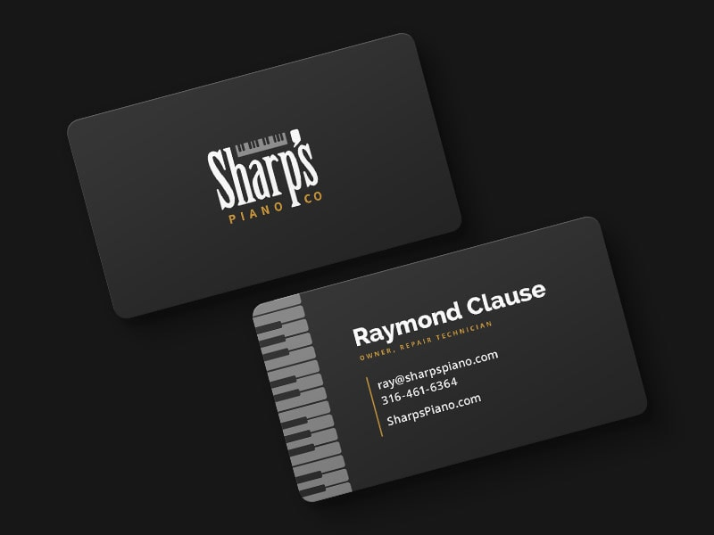 Sharps Piano Co Business Cards