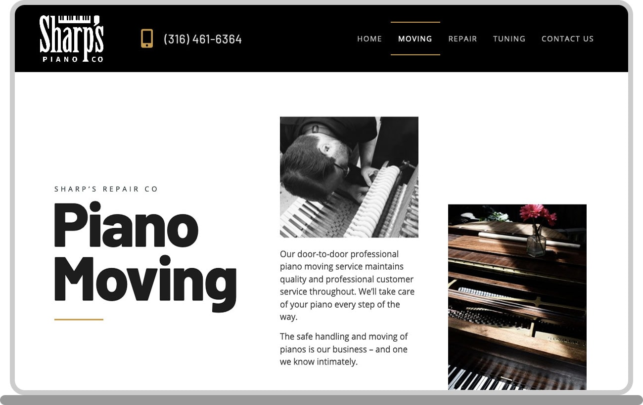 Sharps Piano Co Laptop Image 2