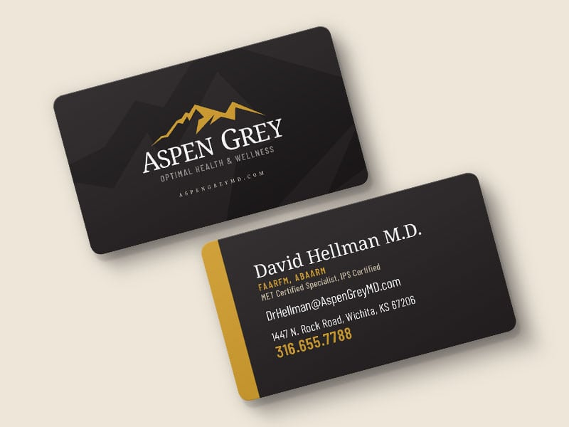 Aspen Grey Md Business Cards