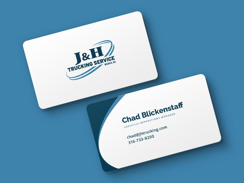 Jh Trucking Business Cards