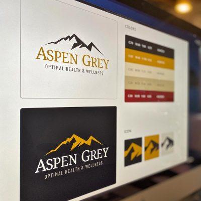 Imac Logo Design Aspen Grey
